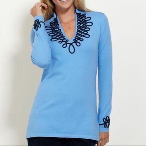 Vineyard Vines Blue Coastal Tunic Top Size Large 2E0155